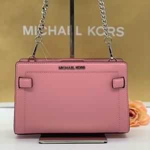 MICHAEL KORS RAYNE SM CROSSBODY CARNATION